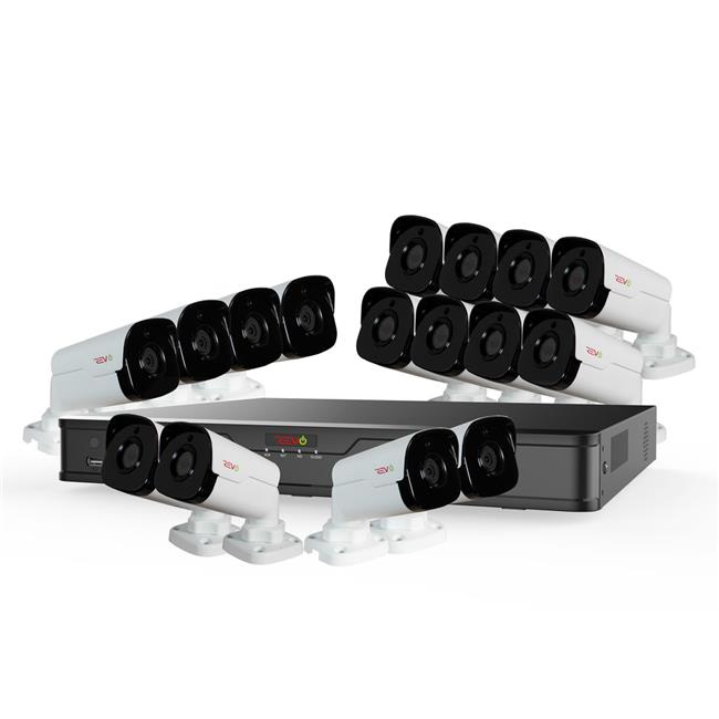 Ultra HD 16 Channel 4TB NVR Surveillance System with 16 x 4 Megapixel Cameras