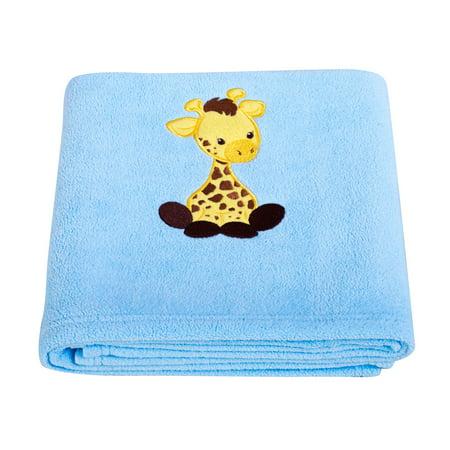 Giraffe Applique Fleece - Applique Fleece Blanket