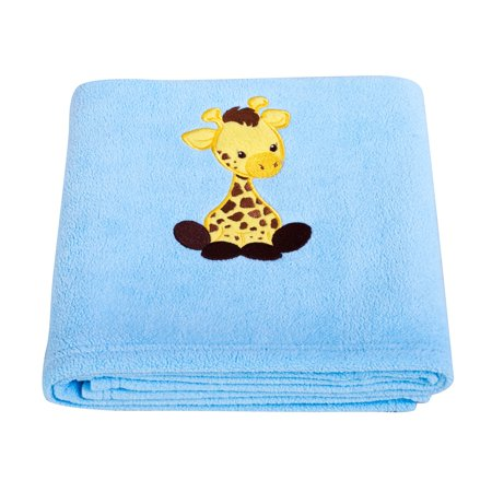 Giraffe Applique Fleece Blanket