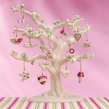Lenox Set of 12 Ornaments for Ornament Tree (Tree Not Included) (Be Mine Valentine)