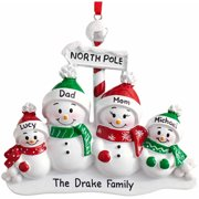 Personalized North Pole Family Christmas Ornament