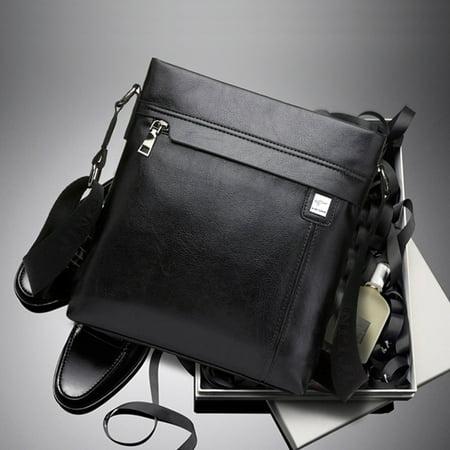 Men Genuine Leather Cowhide Vintage Office Bag Travel Shoulder Handbag Christmas Gift