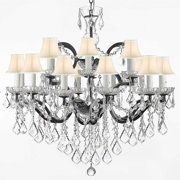 Gallery T40-591 Black Baroque 18 Light 2 Tier Chandelier