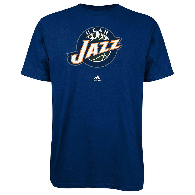 Utah Jazz Adidas Primary Logo NBA T Shirt Blue XL