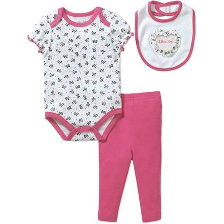 Batman Newborn Bib - Rene Rofe Newborn Girl 3pc Bodysuit, Bib & Pants Set