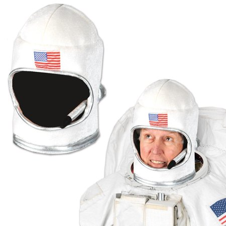 Pack of 6 Decorative Halloween Plush White Astronaut Space Helmet Costume 11