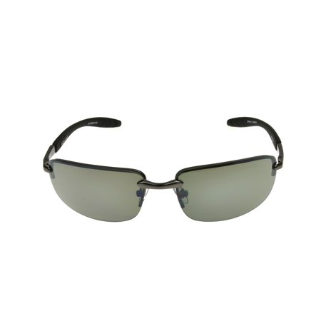 Foster Grant Men's Gunmetal Rectangle Sunglasses II01
