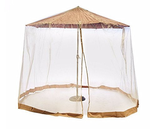 Southern Casual Living Canopy Patio Umbrella Mosquito Insect Screen & Netting Enclosure... by