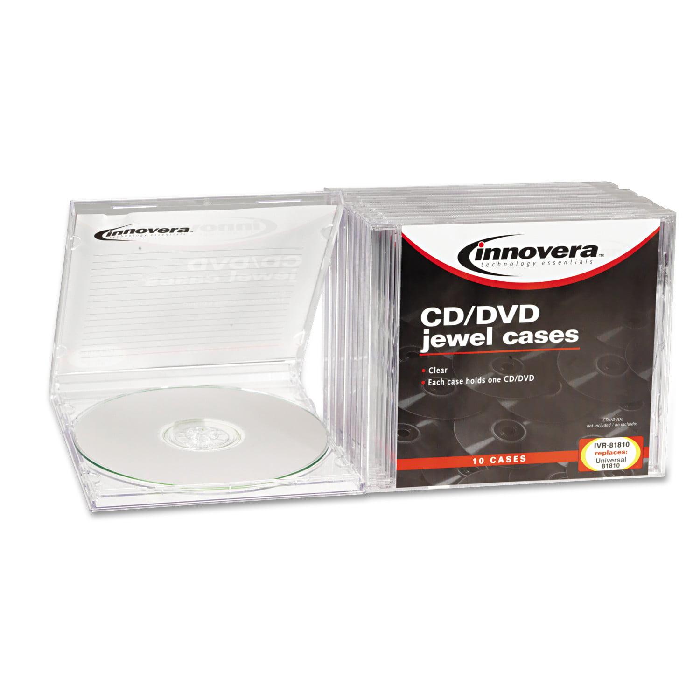 Innovera CD/DVD Standard Jewel Case, Clear, 10/Pack - Walmart.com