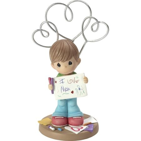 Precious Moments I Love Mom Boy Resin Photo And Picture Holder Stand 173422 ()