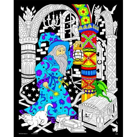 Wizard Lantern - Fuzzy Velvet Coloring Poster 16x20 Inches - Walmart.com