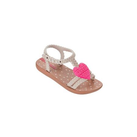 Ipanema My First Ipanema Brown Pink Heart Sandal 21312 Beige / 8](Sandal Ipanema)