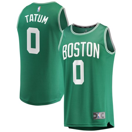Jayson Tatum Boston Celtics Fanatics Branded Fast Break Replica Jersey Green - Icon Edition
