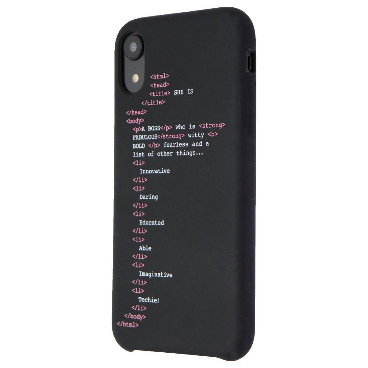 My Social Canvas Grlcodephncs003 Girl Code Case For Iphone Xr Black Refurbished Walmart Canada