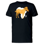 Orange Zebra Africa Map Tee Men's -Image by Shutterstock