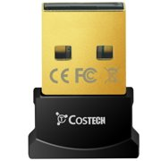 Bluetooth 4.0 USB Adapter, Costech USB Bluetooth Wireless Micro Adapter Compatible with Windows 10,8.1/8,7,Vista, XP, 32/64 Bit for Desktop, Laptop, Computers