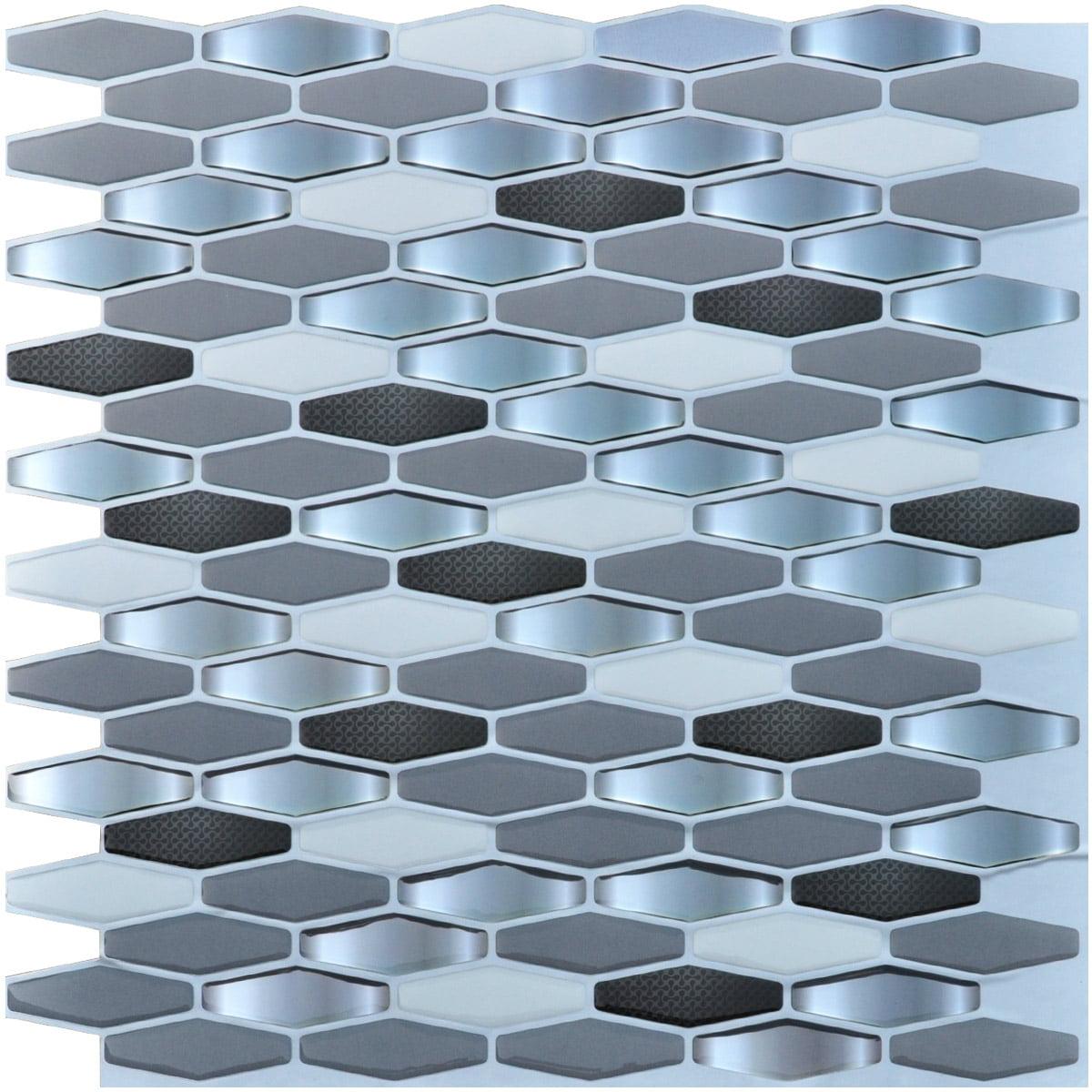 Art3d Peel & Stick Brick Kitchen Backsplash Self-adhesive Wall Tile ...