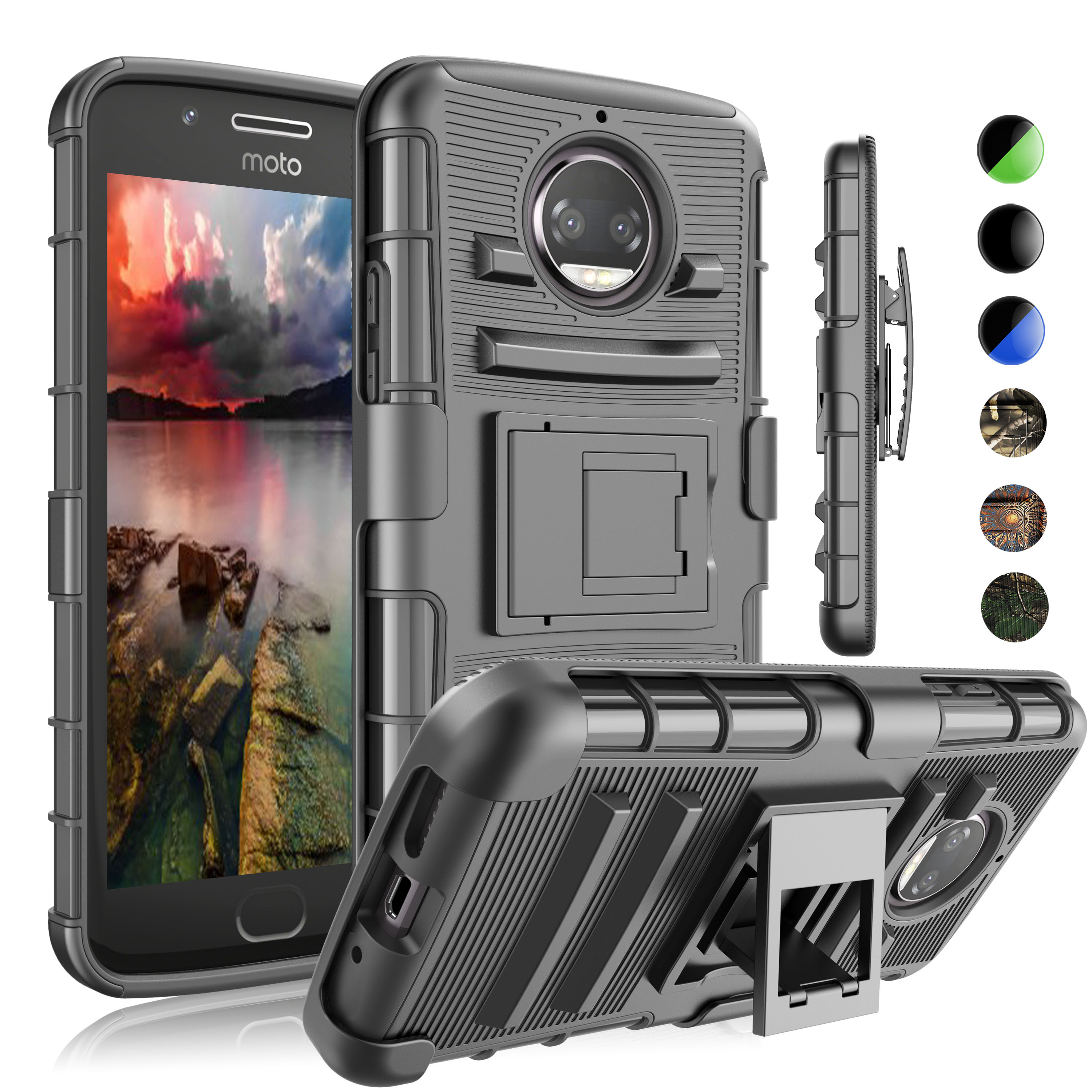 quality design 21e87 e0b4d Moto G5S Plus Case, Moto G5S Plus Hoster Belt, Moto G5S Plus Clip, Njjex  Rugged-Duty Holster & Built-In Kickstand Feature Combo Case For Motorola  Moto ...