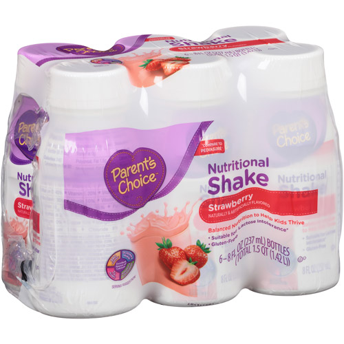 Parent's Choice Strawberry Nutritional Shake, 8 fl oz, 6 count