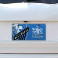 Montreal Impact Printed License Plate