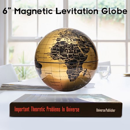 6 inch Levitation Magnetic Rotate World Globe Floating Levitating Earth Map With Bookbase Geography Knowledge Educational Christmas Toy