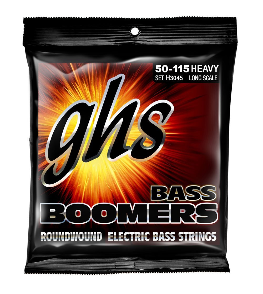 H3045 Bass Boomers, HEAVY SET, GHS Strings H3045 4-String Bass Boomers, Nickel-Plated... by