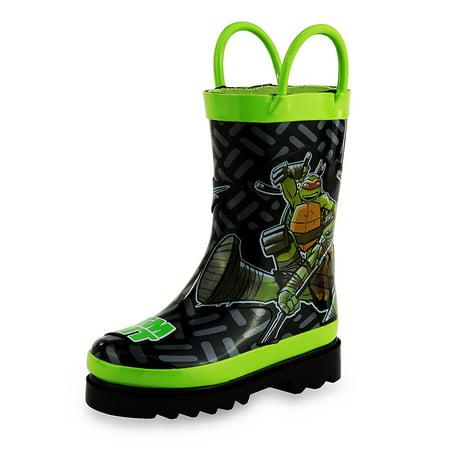 Nickelodeon Kids Boys' Teenage Mutant Ninja Turtles TMNT Character Printed Waterproof Easy-On Rubber Rain Boots (Toddler/Little Kids) for $<!---->