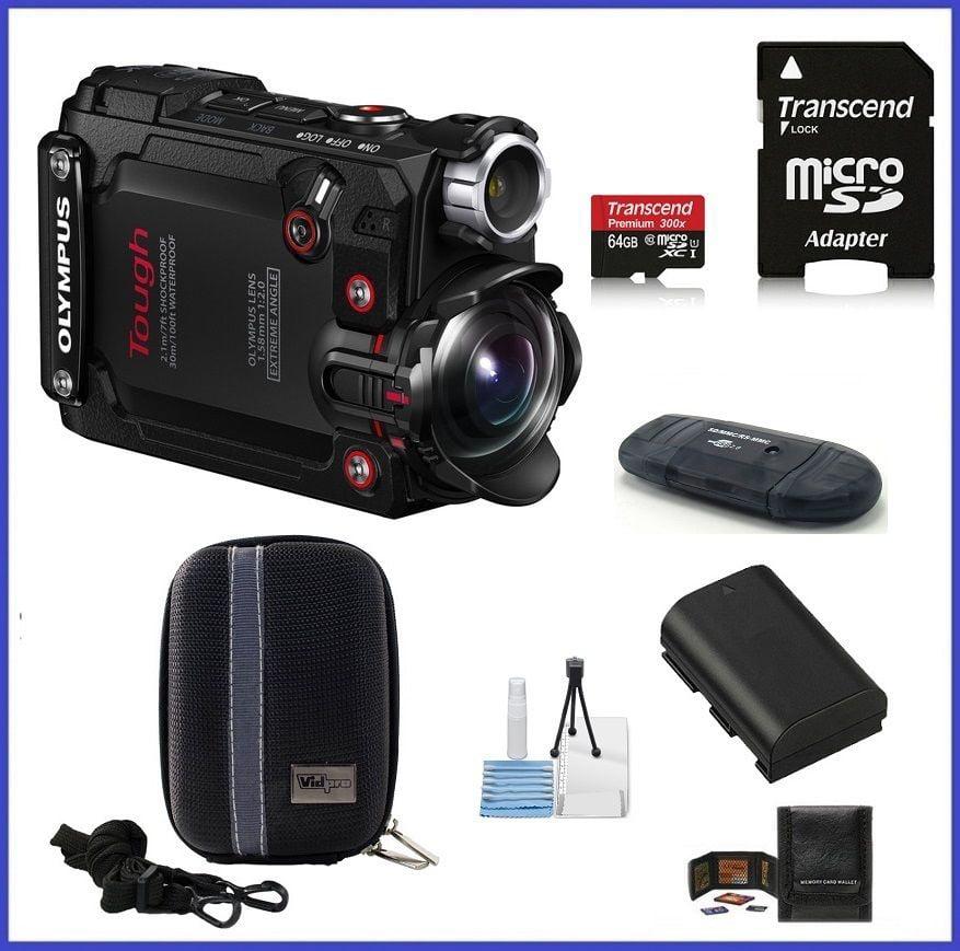 Olympus Stylus Tough TG-Tracker Action Camera (Black) 64G...