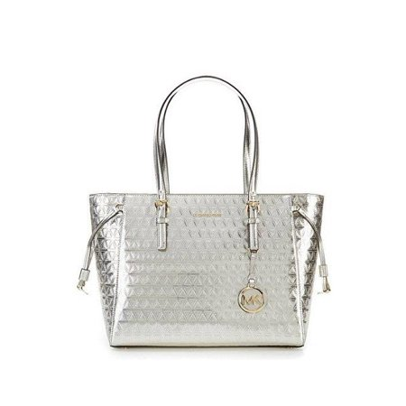 fddb5568d8fee5 Michael Kors - 30H7GV6T2K-104 Voyager Medium Multi Function Top Zip Tote -  Metallic Silver - Walmart.com