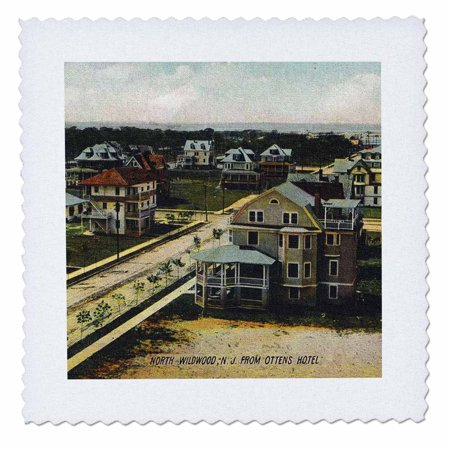 3dRose North Wildwood, NJ in 1908 - Quilt Square, 10 by 10-inch (Wildwood Nj)