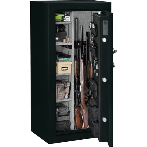 ... Stack-On 24 Gun Fire Resistant Security Safe with Electronic Lock and  Door Storage E
