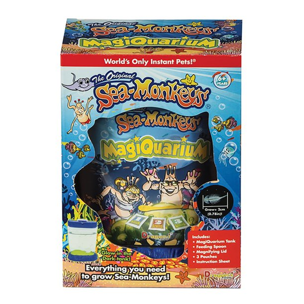 The Original Sea Monkeys Magiquarium Glow In The Dark Kit Everything You Need To Hatch Sea Monkeys Walmart Com Walmart Com