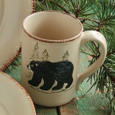 Moose Stoneware - Bear & Moose Stoneware Bear Mug - Lodge Kitchen Decor