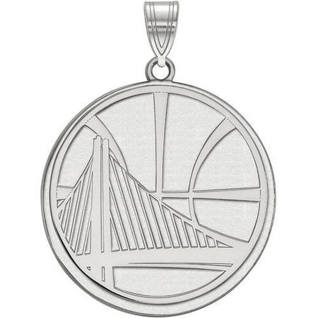 NBA Golden State Warriors 14kt White Gold Extra Large Pendant 14k White Gold Statue