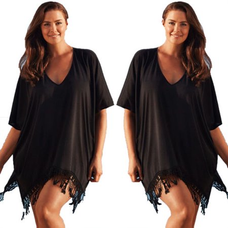 Women Plus Size Swimwear Beachwear Bikini Beach Swimsuit Cover Up Kaftan Ladies Summer Dress