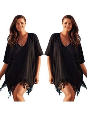 72d76371a3 Product Image Women Plus Size Swimwear Beachwear Bikini Beach Swimsuit  Cover Up Kaftan Ladies Summer Dress