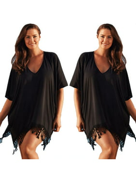 63fe2e7da0 Product Image Women Plus Size Swimwear Beachwear Bikini Beach Swimsuit  Cover Up Kaftan Ladies Summer Dress