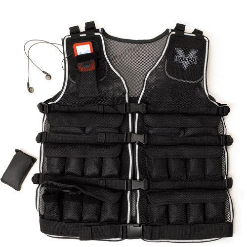 Valeo Weighted Vest up to 40 lbs, Black