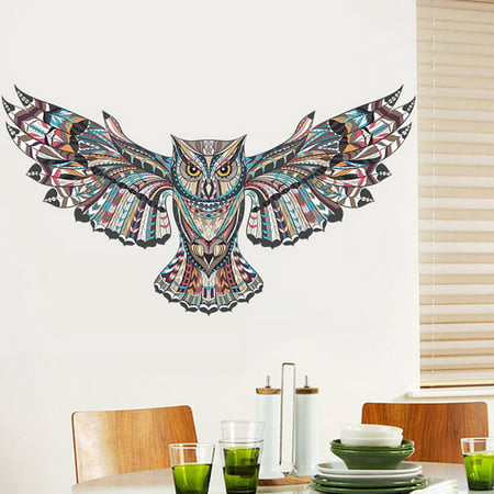 Large Owl Wall Decal Wall Sticker Mural Decor Removable Art For Kids Living Room Walmart Canada