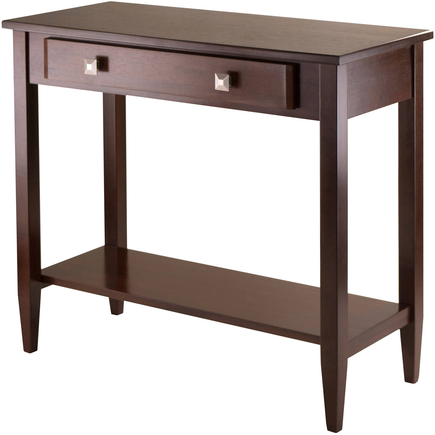 Walnut Console Table richmond hall console table, antique walnut - walmart