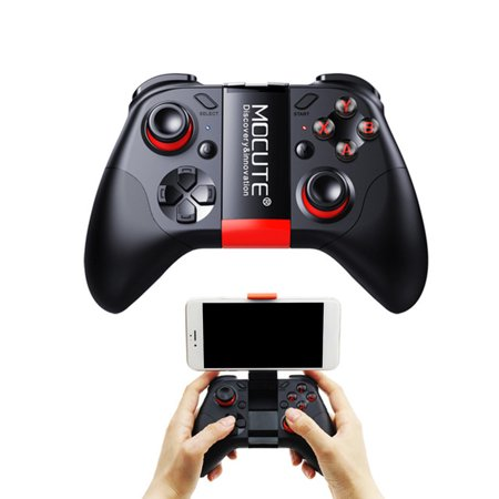VR Gamepad Joystick Wireless Bluetooth Controller Handle Shutter for PUBG Gamepad with Holder for Android iOS (Evo Vr Wireless Bluetooth Gamepad Pro Level)