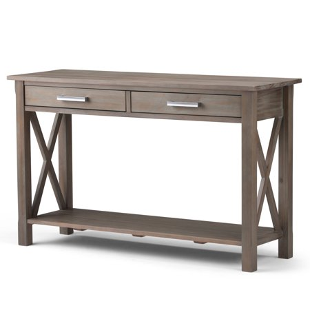 Brooklyn + Max Providence Solid Wood 47 inch Wide Contemporary Console Sofa Table in Distressed Grey ()