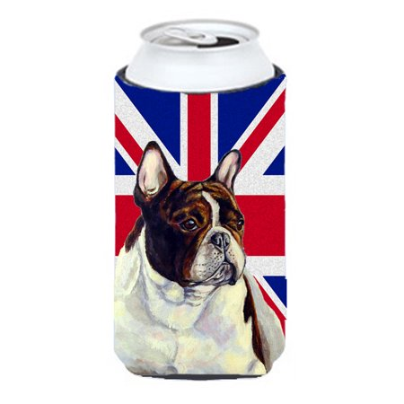 French Bulldog with English Union Jack British Flag Tall Boy Beverage Insulator Hugger - Bulldogs Beverage
