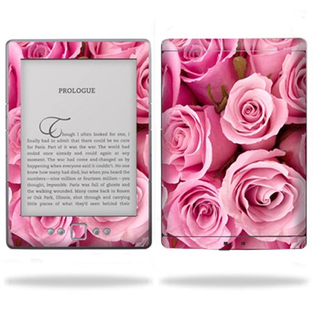 Skin Decal Wrap cover for Amazon Kindle 4 four Tablet Blue Flowers ()