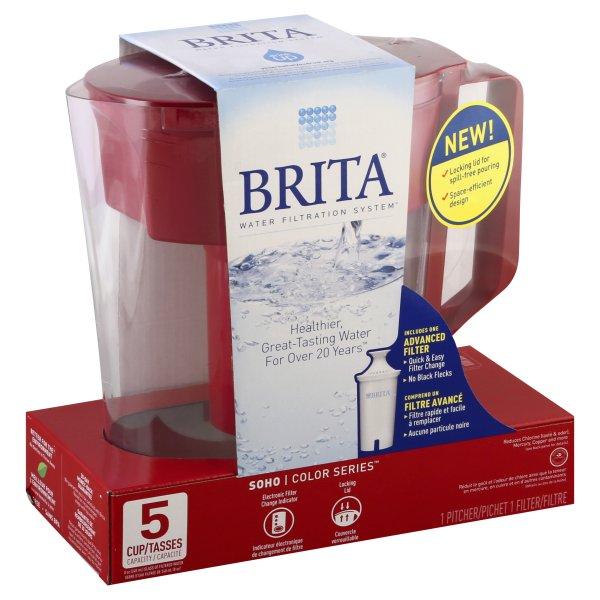 Brita, Brita Water Filtration System Color Series Pitcher, 1 pitcher