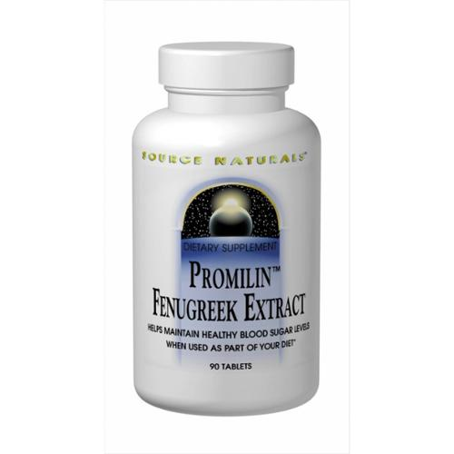 Source Naturals Promilin Fenugreek Extract 500mg,Levels, 30 Tablets