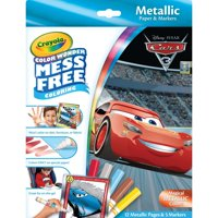 Crayola Color Wonder Cars Coloring Set, Mess Free Markers, 12 Pages