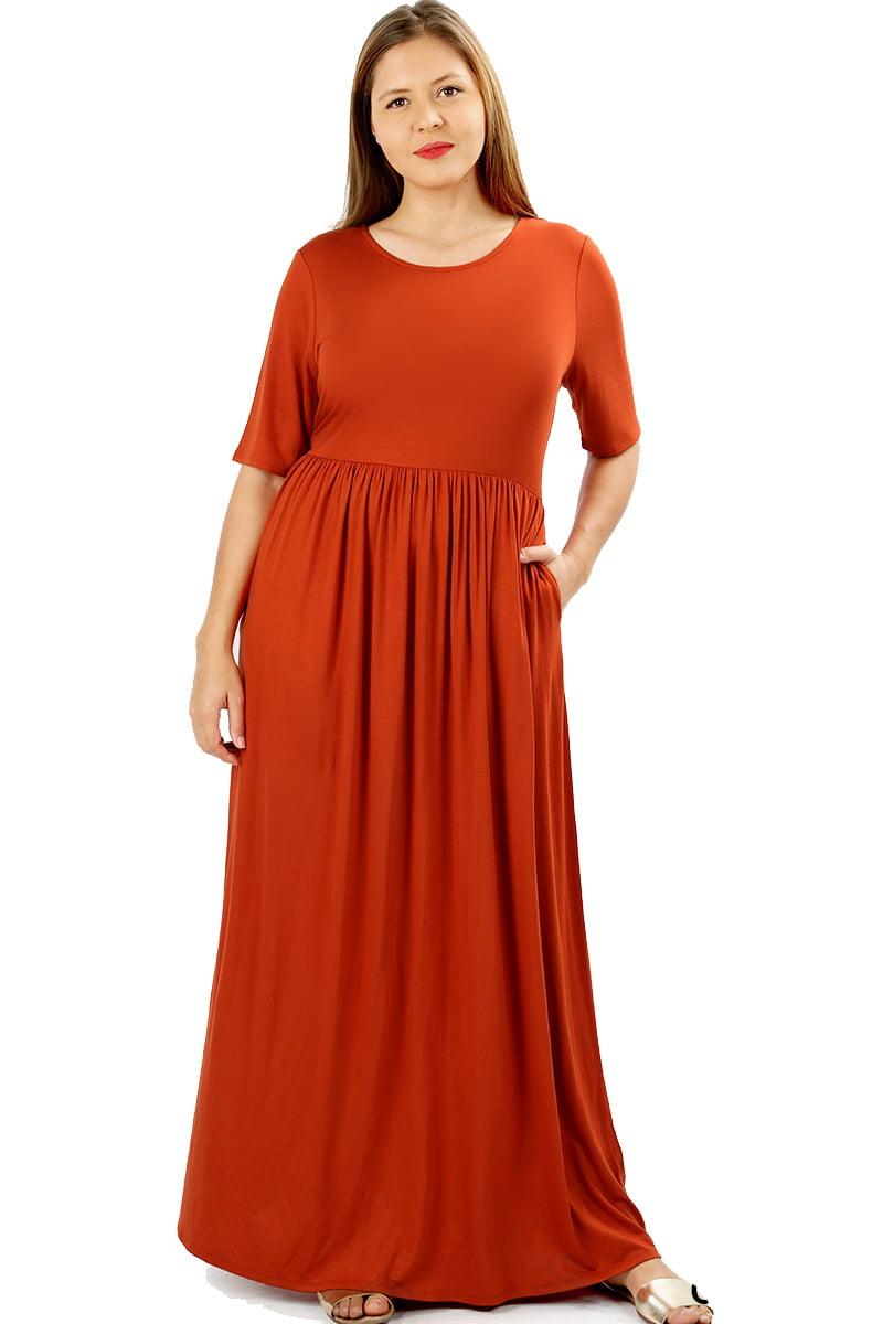 Jed Fashion Jed Fashion Womens Soft Fabric Short Sleeve Plus Size
