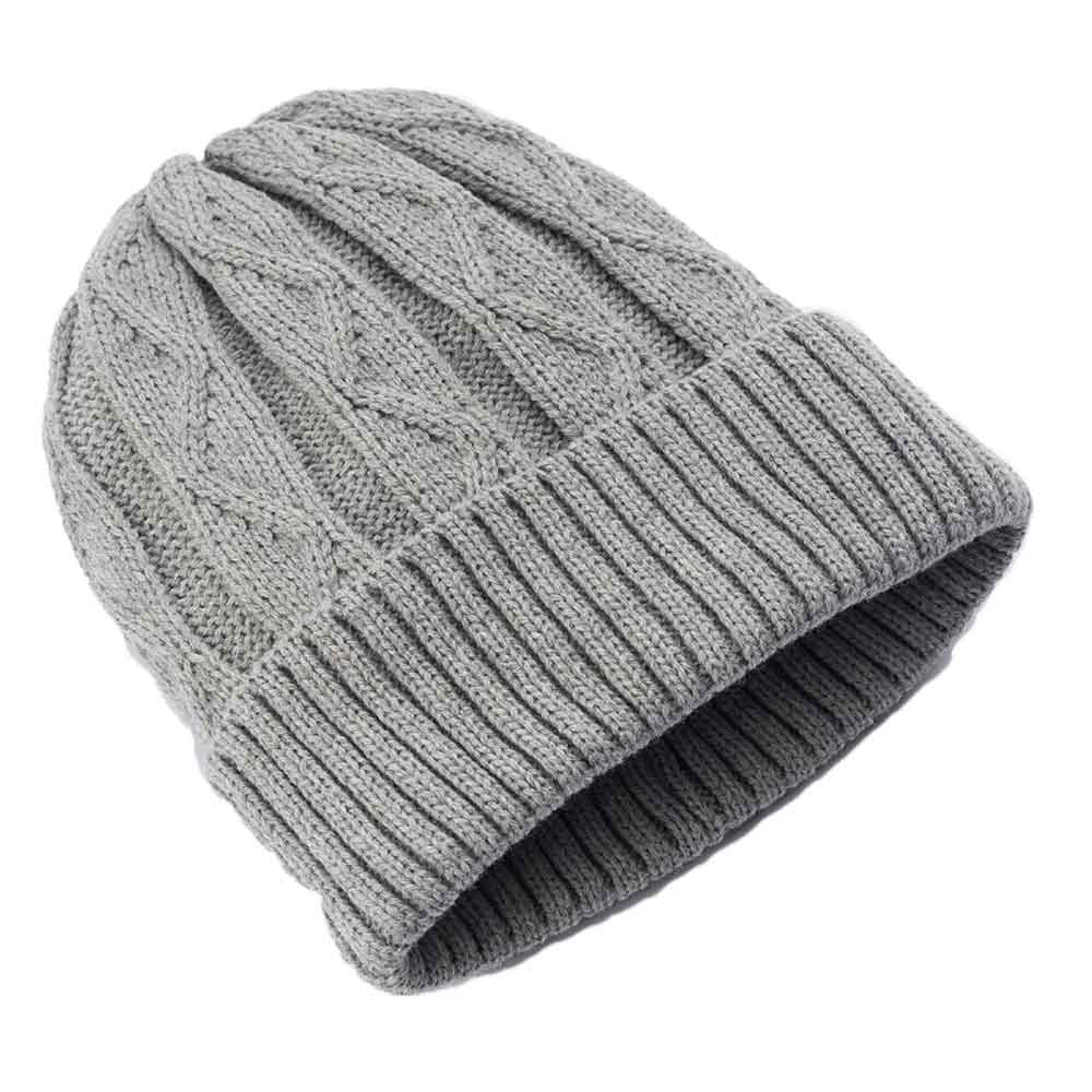 Urban Pipeline Men Cable Knit Beanie Grey One Size YUP53CW05