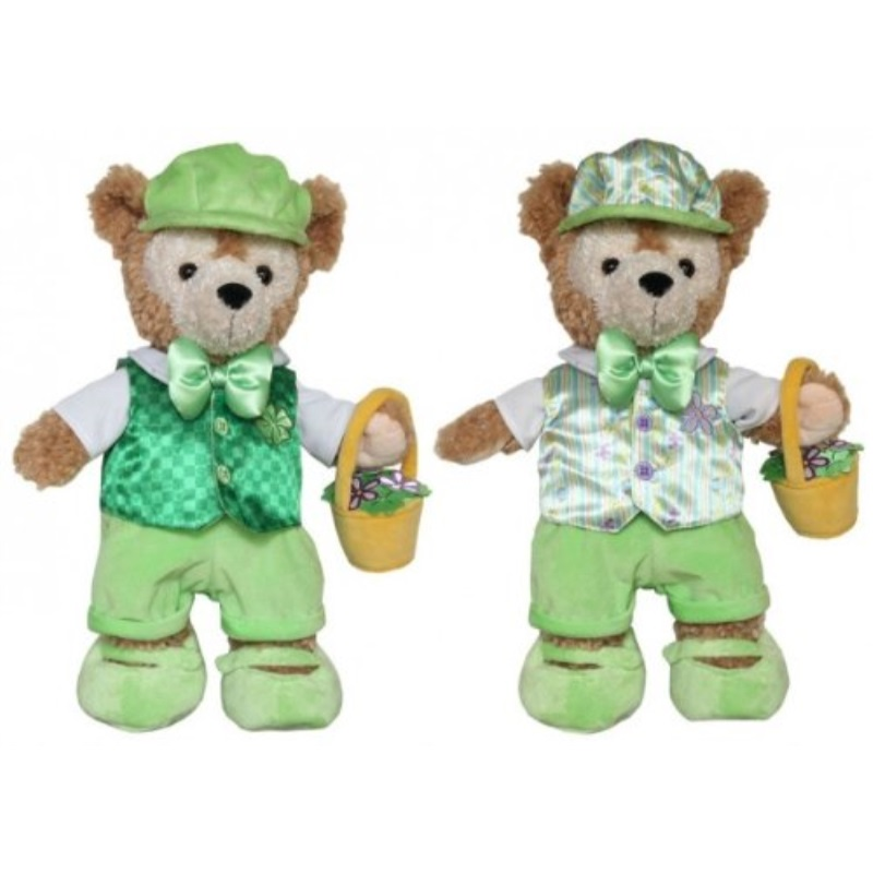 "Disney Parks Exclusive Duffy Bear St. Patrick's Day & Easter Reversible Boxed Costume Outfit Set 17"" - NEW"